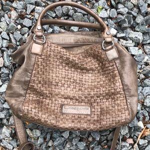 Liebskind Berlin Brown/Taupe Leather Satchel Bag